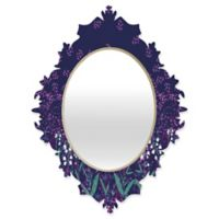 Deny Designs® Joy Laforme 29-Inch x 22-Inch Oval Lilly of the Valley Baroque Mirror in Purple