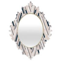 Deny Designs® Khristian A. Howell 19-Inch x 14-Inch Oval Jouer Quatrefoil Mirror in Pink