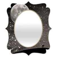 Deny Designs® Shannon Clarke 29-Inch x 22-Inch Oval Love Under the Stars Mirror in Black/White