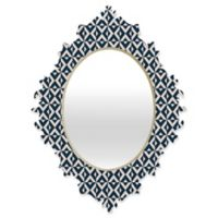 Deny Designs® Khristian A. Howell Michella 29-Inch x 22-Inch Oval Nina Baroque Mirror in Navy
