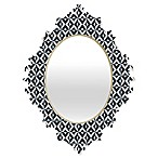 Deny Designs® Khristian A. Howell Michella 19-Inch x 14-Inch Oval Nina Baroque Mirror in Navy