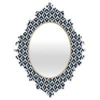 Deny Designs® Khristian A. Howell Michella 19-Inch x 14-Inch Oval Nina Baroque Mirror in Navy