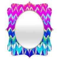 Deny Designs® Holly Sharpe 19-Inch x 14-Inch Multicolor Oval Summer Dreaming Quatrefoil Mirror