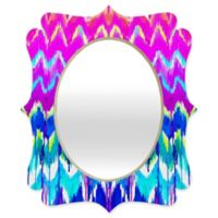 Deny Designs® Holly Sharpe 29-Inch x 22-Inch Multicolor Oval Summer Dreaming Quatrefoil Mirror