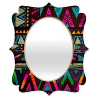 Deny Designs® Kris Tate 19-Inch x 14-Inch Multicolor Oval Huipil Quatrefoil Mirror