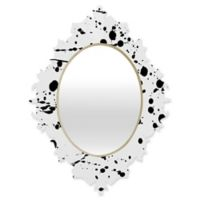 Deny Designs® Natalia Baca 19-Inch x 14-Inch Oval Paint Play 3 Baroque Mirror in Black/White