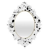 Deny Designs® Natalia Baca 29-Inch x 22-Inch Oval Paint Play 3 Baroque Mirror in Black/White