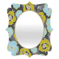 Deny Designs® Heather Dutton 19-Inch x 14-Inch Multicolor Oval Katrien Quatrefoil Mirror