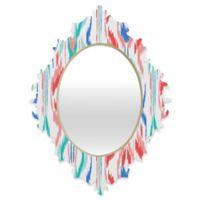 Deny Designs® Jacqueline Maldonado 19-Inch x 14-Inch Multicolor Oval Sundress Ikat Mirror