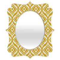 Deny Designs® Heather Dutton 19-Inch x 14-Inch Oval Quatrefoil Mirror in Yellow