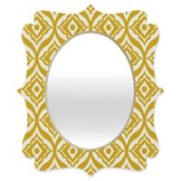 Deny Designs® Heather Dutton 29-Inch x 22-Inch Oval Quatrefoil Mirror in Yellow