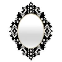 Deny Designs® Holli Zollinger 19-Inch x 14-Inch Oval Geo Panel Baroque Mirror in Black/White