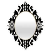 Deny Designs® Holli Zollinger 29-Inch x 22-Inch Oval Geo Panel Baroque Mirror in Black/White