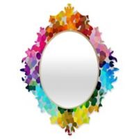 Deny Designs® Three of the Possessed 19-Inch x 14-Inch Oval Winter 1998 Baroque Mirror