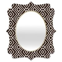 Deny Designs® Khristian A. Howell 19-Inch x 14-Inch Oval Theory Wallpaper Mirror in Black/White