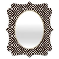 Deny Designs® Khristian A. Howell 29-Inch x 22-Inch Oval Theory Wallpaper Mirror in Black/White