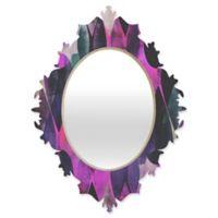 Deny Designs® Georgiana Paraschiv 19-Inch x 14-Inch Oval Graphic84 Baroque Mirror