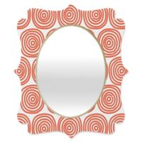 Deny Designs® Khristian A. Howell 19-Inch x 14-Inch Oval Vienna Swirls Mirror in Red/White