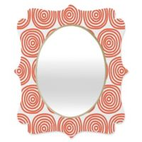 Deny Designs® Khristian A. Howell 29-Inch x 22-Inch Oval Vienna Swirls Mirror in Red/White