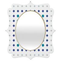 Deny Designs® Karen Harris 19-Inch x 14-Inch Oval Modern Galaxy Quatrefoil Mirror