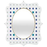 Deny Designs® Karen Harris 29-Inch x 22-Inch Oval Modern Galaxy Quatrefoil Mirror