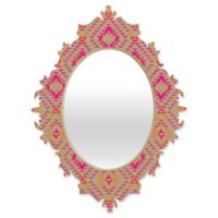 Deny Designs® Pattern State 29-Inch x 22-Inch Oval Tile Tribe Baroque Mirror in Tang