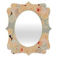 Deny Designs® Iveta Abolina 29-Inch x 22-Inch Oval Creme de la Creme Quatrefoil Mirror
