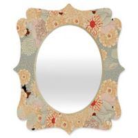 Deny Designs® Iveta Abolina 19-Inch x 14-Inch Oval Creme de la Creme Quatrefoil Mirror