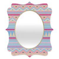 Deny Designs® Iveta Abolina 29-Inch x 22-Inch Oval Pastel Navajo Quatrefoil Mirror
