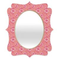 Deny Designs® Caroline Okun 14-Inch x 19-Inch Oval Artichokita Rosa Quatrefoil Mirror