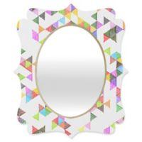 Deny Designs® Fimbis 19-Inch x 14-Inch Oval Technicolour Raindrops Quatrefoil Mirror