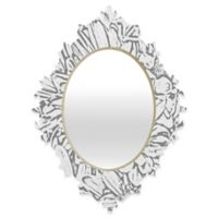 Deny Designs® Lisa Argyropoulos 29-Inch x 22-Inch Oval Daisy Daisy Dove Baroque Mirror in Grey