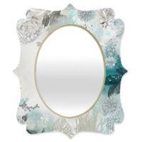 Deny Designs® Iveta Abolina 29-Inch x 22-Inch Oval Seafoam Quatrefoil Mirror