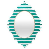 Deny Designs® Rebecca Allen 19-Inch x 14-Inch Oval A Classic Baroque Mirror in Teal