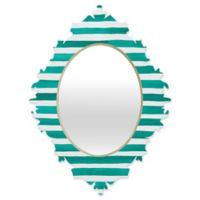 Deny Designs® Rebecca Allen 29-Inch x 22-Inch Oval A Classic Baroque Mirror in Teal