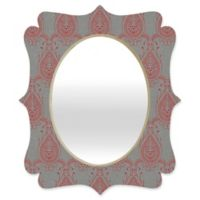 Deny Designs® Holli Zollinger 19-Inch x 14-Inch Oval Jaipur Paisley Mirror in Red/Grey