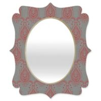 Deny Designs® Holli Zollinger 29-Inch x 22-Inch Oval Jaipur Paisley Mirror in Red/Grey