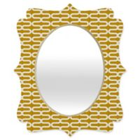 Deny Designs® Holli Zollinger 29-Inch x 22-Inch Oval Kunda Spiral Quatrefoil Mirror in Mustard