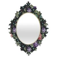 Deny Designs® Rachelle Roberts 29-Inch x 22-Inch Oval Spring Floral Baroque Mirror