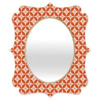 Deny Designs® Carolina Okun 19-Inch x 14-Inch Oval Matsumoto Quatrefoil Mirror in Red/Peach