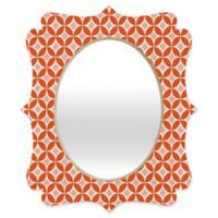 Deny Designs® Carolina Okun 29-Inch x 22-Inch Oval Matsumoto Quatrefoil Mirror in Red/Peach