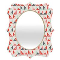 Deny Designs® Holli Zollinger 29-Inch x 22-Inch Oval Jango Quatrefoil Mirror