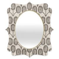 Deny Designs® Holli Zollinger 19-Inch x 14-Inch Oval Thistle Quatrefoil Mirror in Grey