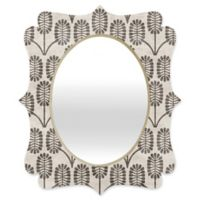 Deny Designs® Holli Zollinger 29-Inch x 22-Inch Oval Thistle Quatrefoil Mirror in Grey