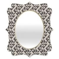 Deny Designs® Holli Zollinger 19-Inch x 14-Inch Oval Mod Circuit Mirror in Black/White
