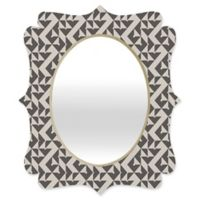 Deny Designs® Holli Zollinger 29-Inch x 22-Inch Oval Mod Circuit Mirror in Black/White