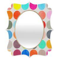 Deny Designs® Garima Dhawan 29-Inch x 22-Inch Oval Colorplay 1 Quatrefoil Mirror