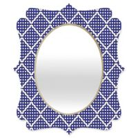 Deny Designs® Holli Zollinger 19-Inch x 14-Inch Oval Nautical Knots Quatrefoil Mirror in Blue