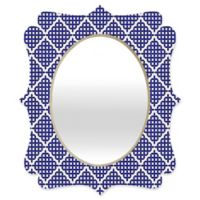 Deny Designs® Holli Zollinger 29-Inch x 22-Inch Oval Nautical Knots Quatrefoil Mirror in Blue