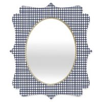 Deny Designs® Holli Zollinger 19-Inch x 14-Inch Oval Cross Lines Mirror in Black/White